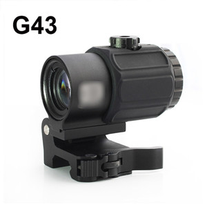 Tactical G43 Scope 3X Magnifier Scope with Switch to Side STS Quick Detachable QD Mount Hunting Rifle Magnifier Sight