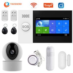Sistema di allarme di sicurezza YS PG107 Tuya fotocamera Kit SmartLife APP controllo Con Auto IP Dial rilevatore di movimento Moglie Gsm casa Smart Alarm