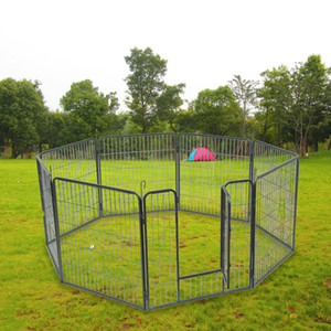WACO Dog Exercise Pen and Pet Playpen,Outdoor 8 Panel Foldable Heavy Duty Metal, Different Shape Dog Cat Pet Exercise Fence Hammigrid Silver
