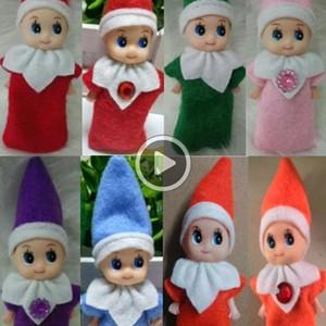 10PCS 큰 Qlity 크리스마스 아기 요정 인형 아기 EES 인형 장난감 미니 엘프 크리스마스 장식 인형 어린이 장난감 어린이 선물