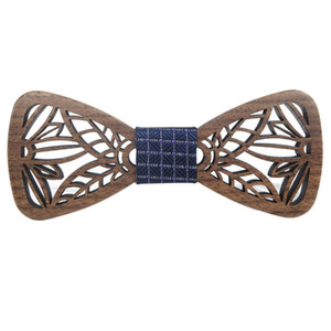 ROPALIA Hollow Wood Fashionable Bow Ties for Men Wedding Suits Wooden Bow Tie Butterfly Shape Bowknots Gravatas Slim Cravat
