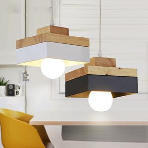 lampade minimalista in legno creativo in ferro battuto principali moderne lampadario barra rotonda lampadario camera da letto sala da piazza di illuminazione