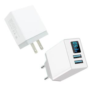 Быстрая зарядка Dual USB Wall Travel Adapter Замена для тока LED дисплей мобильного телефона зарядное устройство США Plug ЕС