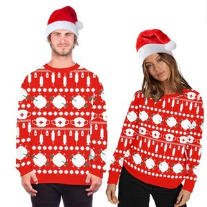 Xmas Red UGLY Man Sweaters 2020 New Novelty Autumn Jumpers Couple Unisex Sweatshirts Funny 3D Print Tops Women Christmas Clothes