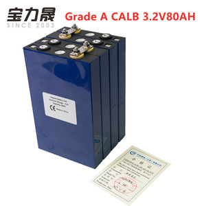 4PCS Grade A 3.2V 80Ah lifepo4 battery 2020 NEW CALB 4S 12v80ah cells not 100Ah 120AH for pack EV Marine RV Golf EU TAX FREE