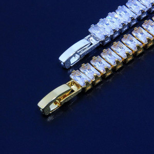 4A CZ Tennis Chain Bracelets Bracelets Bling Glafe Out Cubic Zirconia Strass Bracelet Fashion 1or2 Rangée Hip Hop Bijoux Cadeau pour les femmes