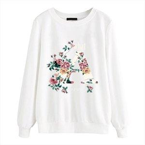 Women Long Sleeve fleece Casual Streetwear pullovers 2020 New arrival Autumn Hoodies Brand Flower Clothing Female sweatshirts