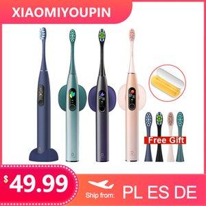 Versão global Oclean X Pro de Sonic escova de dentes elétrica Adulto IPX7 Ultrasonic automática carregamento rápido Tooth Tela escova com Touch para Xiaomi