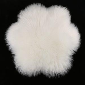 Super Soft Indoor Shag Bereich Teppich Silky Faux Wolle Fluffy-Matte Anti-Skid-18inch Dia