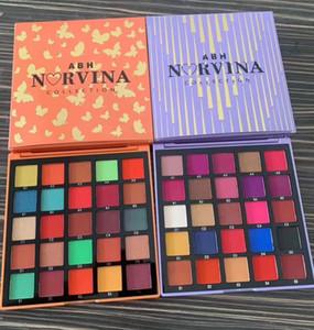 2020 Hot ABH Norvina Eyeshadow Palette 25 Color Glitter Shimmer Matte Eye Shadow Palette Purple Arancione Blu 3 Stili Regalo di Natale