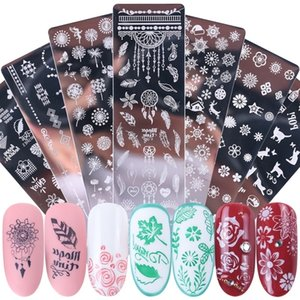 Nail Art Stamping Plates Stickers Christmas Snowflake Leaf Flowers Butterfly Cat Nail Art Stamp Templates Stencils Design Polish Manicure