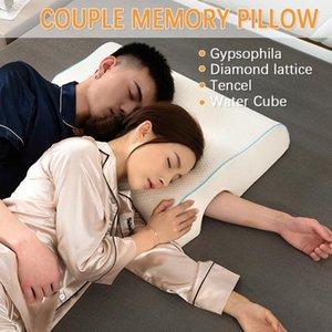 65x49x12cm Casal Pillow lenta pressão de memória Rebound Pillow Anti-mão Paralisia pescoço Cervical Spine Proteção Almofadas