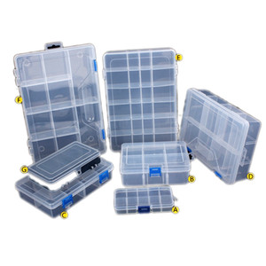 Regolabile Componenti vano portaoggetti Organizer staccabile Portable Drill Tool Box elettronico Vite Beads bagagli Toolkit