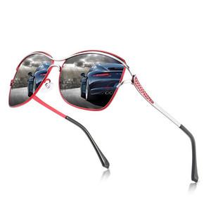 Le donne della moda classico del design degli occhiali da sole di alta qualità polarizzato grande cornice dello specchio di guida