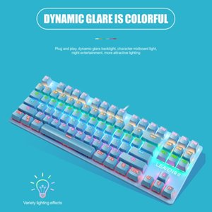 Gaming Office Mechanical Keyboard K550 87 Keys USB Wired Blue Switch Backlight Kit Household Computer Accessories