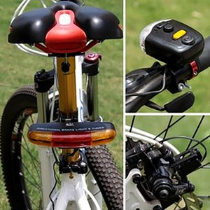 LED Bicycle Bike Turn Signal Directional Brake Light Lamp 8 sound Horn Fixed mount Set Bicycle Light Safety in Darkness#20#15