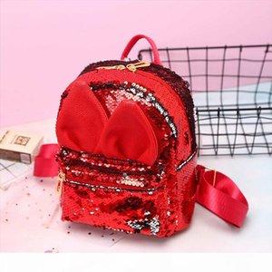 School Bags Cute Girls School Bag Sequins Mini Bag Fashion Rabbit Ear Backpack Outdoor Travel Shoulder Bag