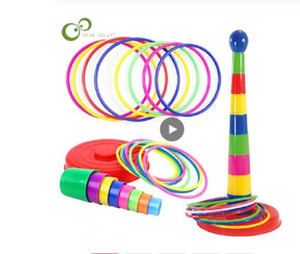 Children Outdoor Fun & Toy Sports Circle Ferrule Stacked Layers Game Parent-Child Interactive Ferrule Throwing Circle Toy Game Kids