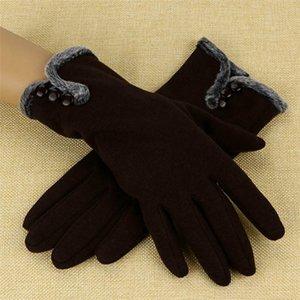 خمسة أصابع قفازات نمط المرأة lealter ماء القيادة كامل إصبع الشاشة قفاز الشتاء الدافئ الإناث في الهواء الطلق 2021 15