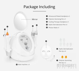 Popular Diamond Dermabrasion 5IN1 Ultrasound Head Machine Skin Care Acne Scars Removal Anti Aging LED Photon Mask Machine