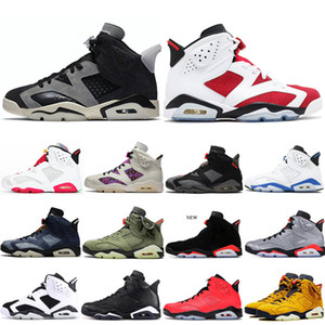 air jordan 6 6s retro أحذية الأسهم X هير 6 6S الرجال لكرة السلة DMP الأشعة تحت الحمراء اللون القرمزي ولدت القط الأسود أوريو رجال الرياضة والمدربين أحذية رياضية الأحذية 5،5 حتي 13