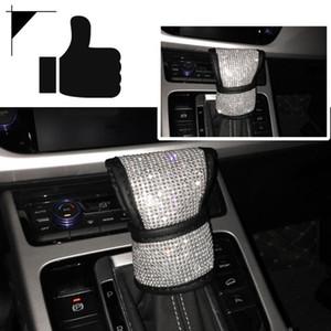 Car Handbrake Cover Bling Styling Handbrake Poignées de protection en voiture Intérieur Accessoires décoratifs en cristal Couvertures 1