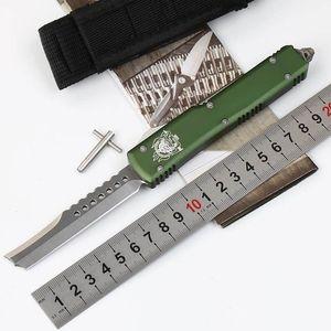 "Microtech Ultratech UTX-85 UT85 UT70 D / A из передней Авто нож (ЧПУ D2 сталь 3.4"" сатин) 6061-Т6 алюминий ручка ДХЭ Карманные ножи"
