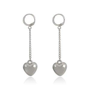 20Paris Lot European Fashion Heart Dangle Earrings Copper Party Gift Hanging Ear Buckle Women Street Gold White K Earring Jewelry