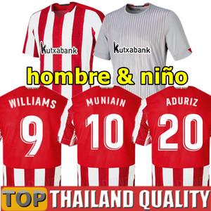 20 21 Athletic Bilbao Camisetas de futebol RAUL GARCIA 2020 2021 WILLIAMS ADURIZ Clube Atlético conjunto de camisa de futebol VILLALIBRE MUNIAIN Homens Kit Infantil uniforme