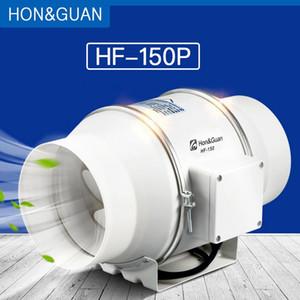 HonGuan 6 '' di scarico in linea Duct Fan Fan misto di flusso in linea idroponica Air Blower per la casa Ventilazione Bagno Vent 312 CFM