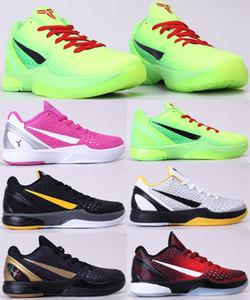 2020 Scarpe Black Mamba VI 6 Erica Var XDR Uomini Grinch Rosa Verde Nero pallacanestro Sport Tennis Sneakers formato 40-46