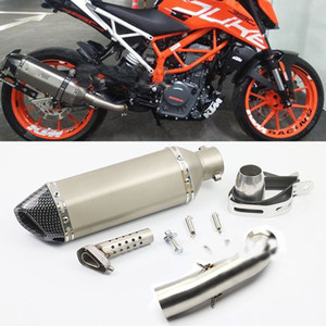 Motorcycle For Akrapovic Exhaust Link Pipe Full Systems KTM DUKE 390 250 RC 125 RC390 2016 2017 2018