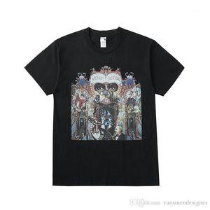 Mens Tee Fashion Printed T Shirt Summer Casual Loose Short Sleeves Tops Male Apparel Michael Jackson Designer