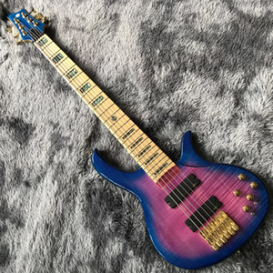 Custom made deliver bass guitar with gold hardware low price bass wholesale 6 string active natural bass guitar free shipping