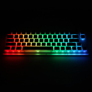 Womier V66 hot swappable Switch Custom Mechanical Keyboard rgb smd led type c usb port acrylic case rgb Pudding keycap
