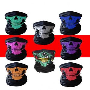 EU Stock Outdoor Seamless Versátil Crânio da magia Lenço na Cabeça Headband Scarf Quente Bandana Ciclismo equitação esqui Halloween Máscaras FY6096