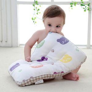 Ergonomic Baby Pillow Newborn Cotton Infant Shaping Pillow Comfortable Kids Head Protection Breathable Children Home Textile