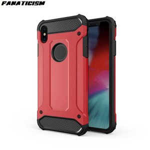 Starke Hybrid Tough Stoß- Rüstung Phone Cases für iPhone XR Xs Max 6S 7 8 Plus SE-Fall-harte Rugged Schlag Back Cover