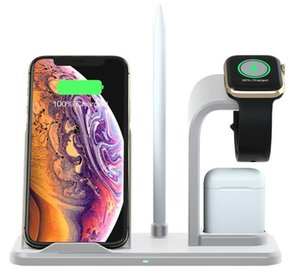 2020 Chargeur sans fil Nouveau amovible 3 1 Station chargeur de téléphone universel support pour Samsung S10, 10W dock station de charge rapide