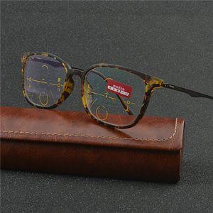 multi focus glasses progressive resin lens distance dual progressive multifocal glasses women man Eyewear NX