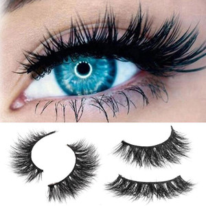 1 Pair 3D Mink Natural Thick Curling False Fake Eyelashes Eye Lashes Makeup Extension Natural Faux Lashes Fluffy Strip Eyelashe