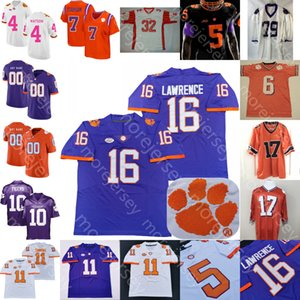 2020 Custom Clemson Football Jersey NCAA College Lavenence Chase Brice Ethienne Jr. Higgins Ross Россгеры Симмонс Дэвис Д. Дж. Умиагалеэй Мерфи