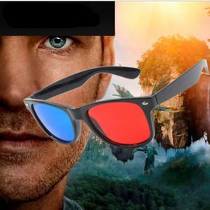 Le novità nero bicchieri di plastica universali 3D / Oculos / blu ciano rosso 3D anaglifi vetro 3D del gioco di film visione di DVD / film