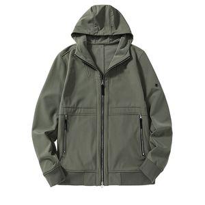 Topstoney 20fw Tissu imperméable de veste de coquille douce avec peluche en automne et hiver manteau de coupe-vent pour hommes