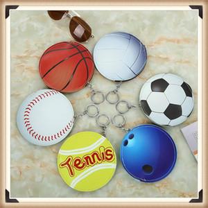 Творческий Прекрасные Портмоне мультфильм Баскетбол Футбол Форма монет сумка Mini сумка для хранения с кольцом для ключей 30шт CNY290