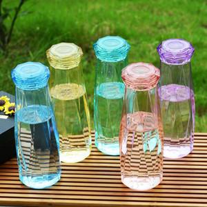 Самые 5 цветов ECO Девушка Использование Cute Алмазных Йоги Joging Спорт Портативные бутылки воды Открытого Путешествие Туризм Отдых Пластиковых бутылки воды