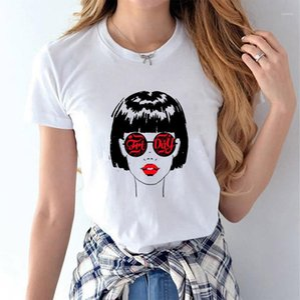 Summer Fashion Casual Short Sleeved White Girls Designer Tops Tees Women Cute 3D Printed T shirts
