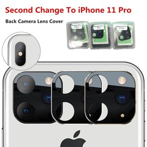 Second Change To Iphone 11 Pro Max 2019 Camera Lens Metal Glass Back Camera Len Protector Ring For Iphone X Xs Max Camera Protective Cover