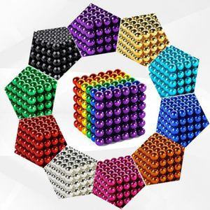 New Multicolor Magic Balls 5mm 216pcs set With Metal Box Neodymium Magic Cube Permanent NdFeB Round Disc Magic Balls Sphere Cube