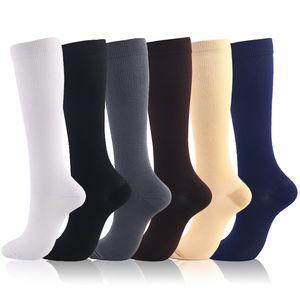 Moda Socmark Yüksek Qualitätsentwicklung Unisex Çorap Sıkıştırma Çorap Basınç Varis Diz Yüksek Destek Stretch Basınç Sirkülasyon